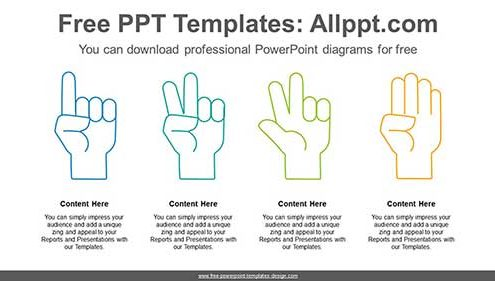 finger numbering powerpoint diagram