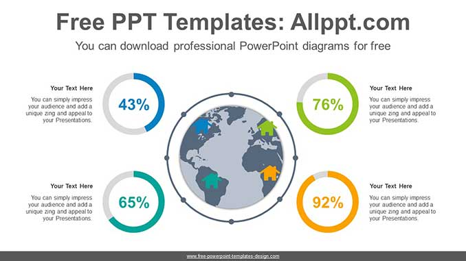 Global Doughnut Chart PowerPoint Diagram for free