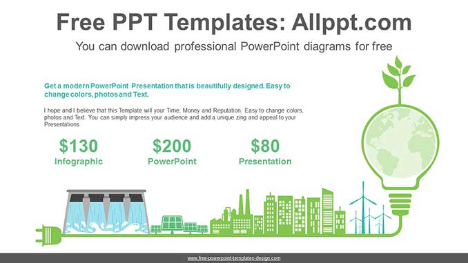 Green Energy PowerPoint Diagram for free