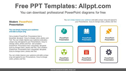 Icon Text Box Powerpoint Diagram For Free