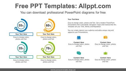 Icon Doughnut Charts Powerpoint Diagram For Free