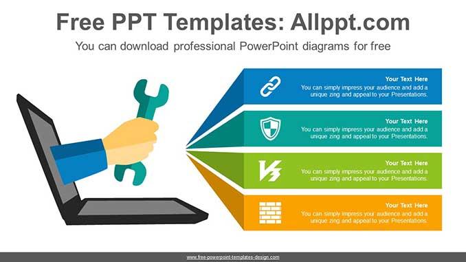 laptop repair banner powerpoint diagram