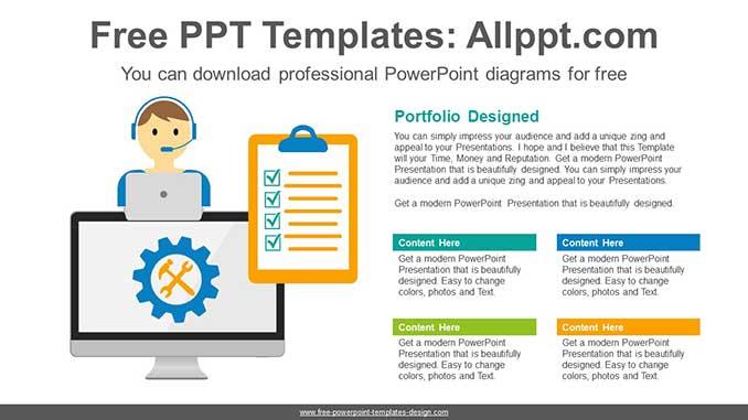 Online Computer Repair Powerpoint Diagram For Free