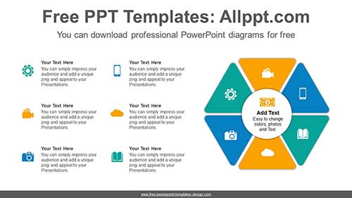 Split Hexagon Powerpoint Diagram For Free