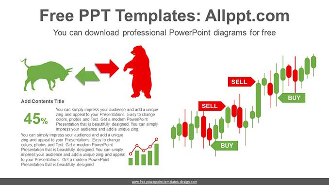 Stock Trading Chart Powerpoint Diagram For Free