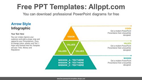 Three Stages Pyramid Powerpoint Diagram For Free