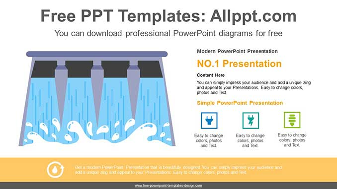 Water Power Energy Powerpoint Diagram For Free