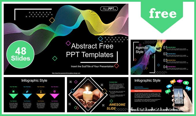 Abstract Wave Lines Powerpoint Templates For Free