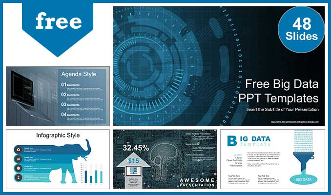 Big Data Visualization Powerpoint Templates For Free