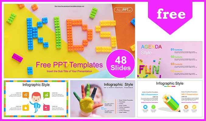 Kids Alphabet Blocks Powerpoint Templates For Free