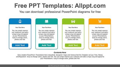 Icon Text Boxes Powerpoint Diagram Icon Text Boxes