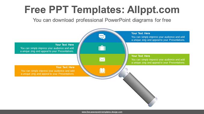 Magnifying Glass Powerpoint Diagram For Free
