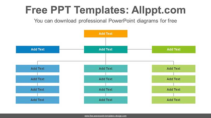 Organization Chart Powerpoint Diagram For Free