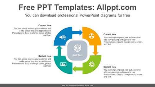 Quarter Donut Powerpoint Diagram Quarter Donut Powerpoint Diagram