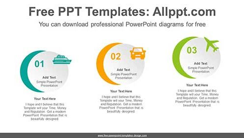 3 step circles diagram for powerpoint free download