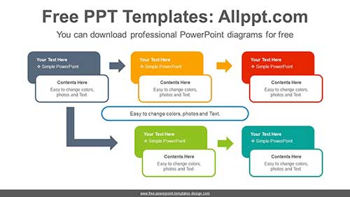 Text Boxes Compare Powerpoint Diagram For Free