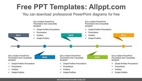 Detailed Timeline Template from www.free-powerpoint-templates-design.com